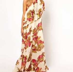 ASOS floral one shoulder goddess maxi dress